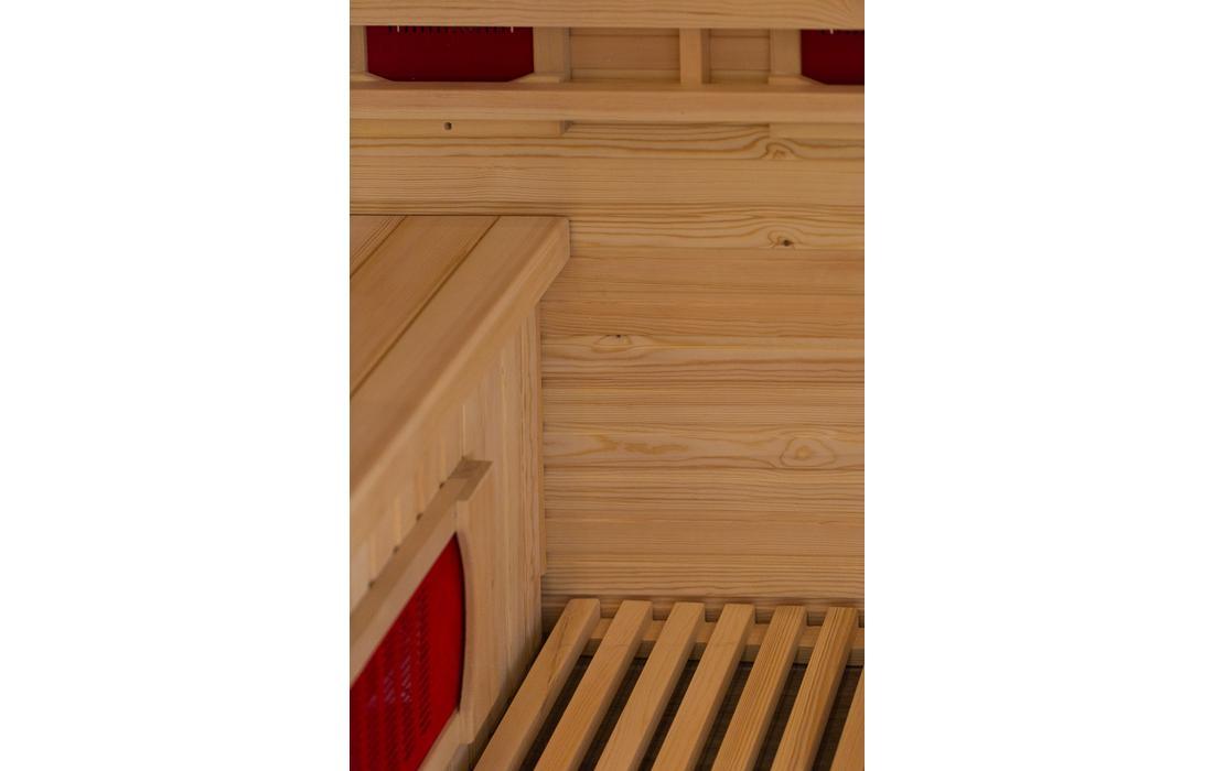 sauna infrarossi sestriere dettaglio panca
