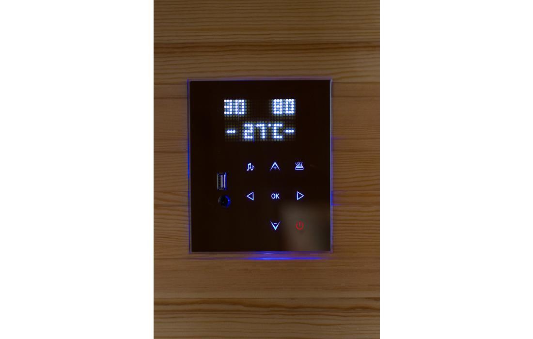 sauna infrarossi treviso display