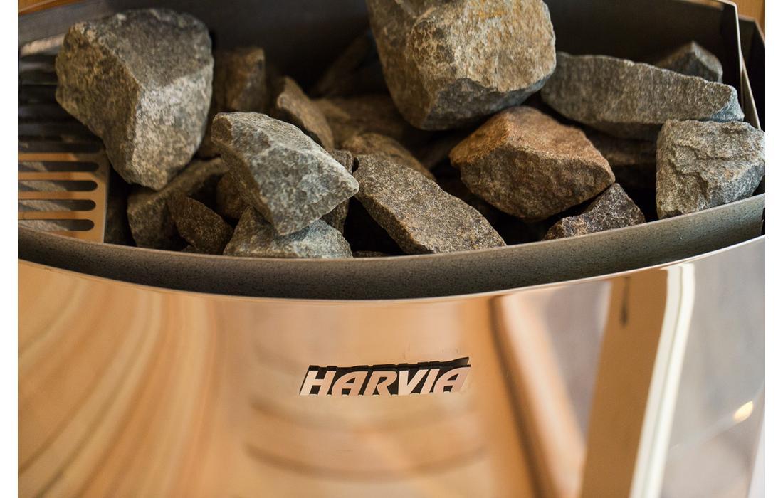 sauna finlandese bolzano stufa harvia dettaglio