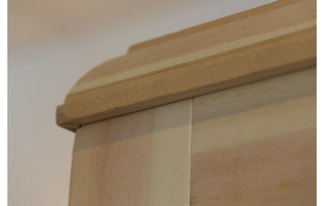 sauna finlandese bormio dettaglio tetto