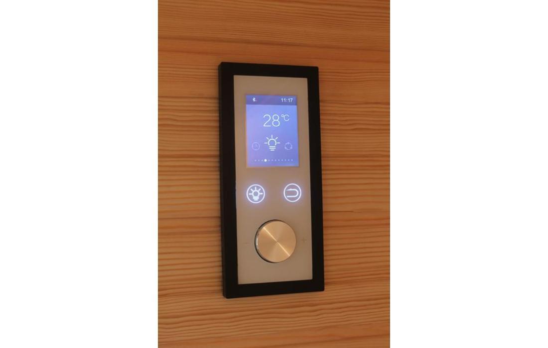 sauna finlandese brescia display