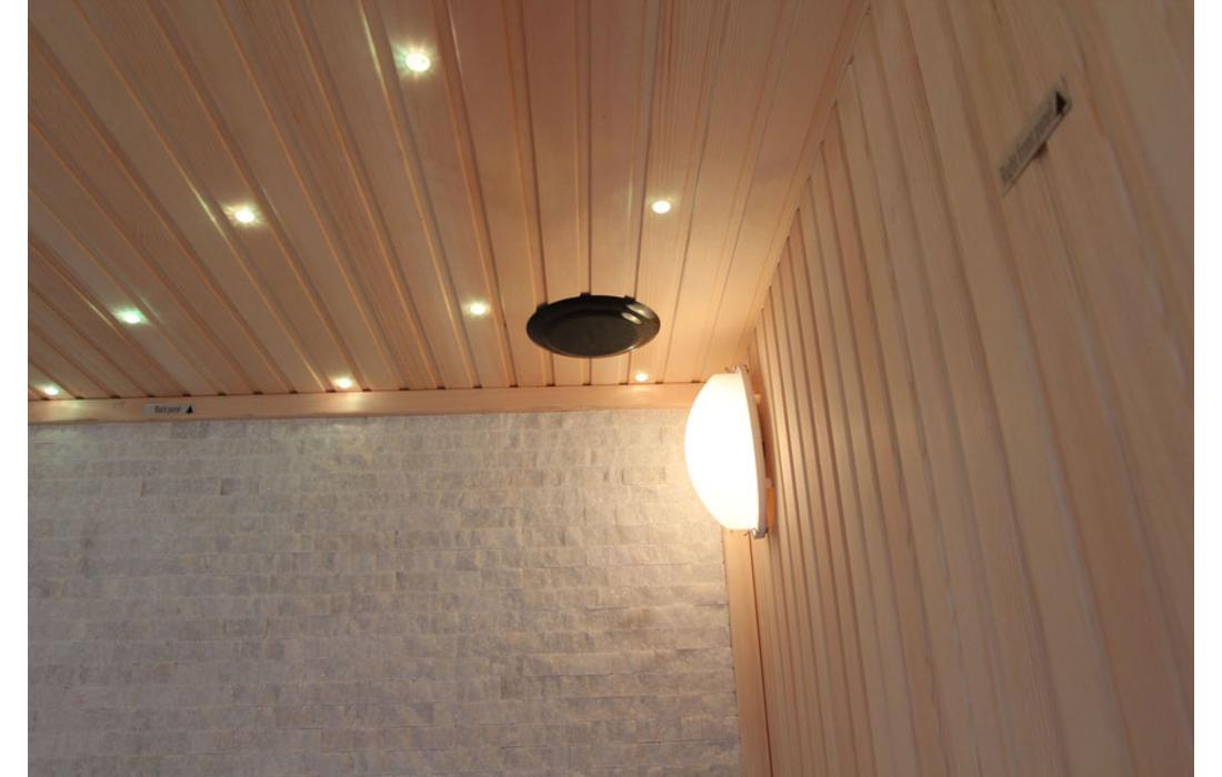 sauna finlandese chamonix luce