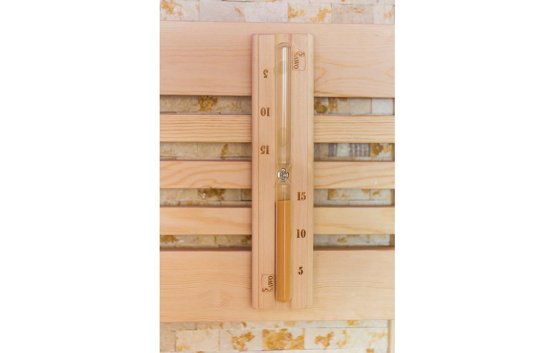 sauna finlandese cortina clessidra