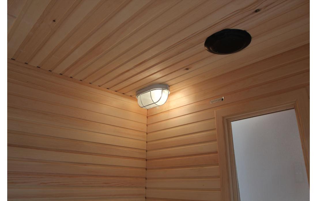 sauna finlandese cortina dettaglio luce