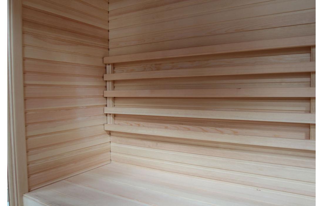 sauna finlandese cortina dettaglio panca