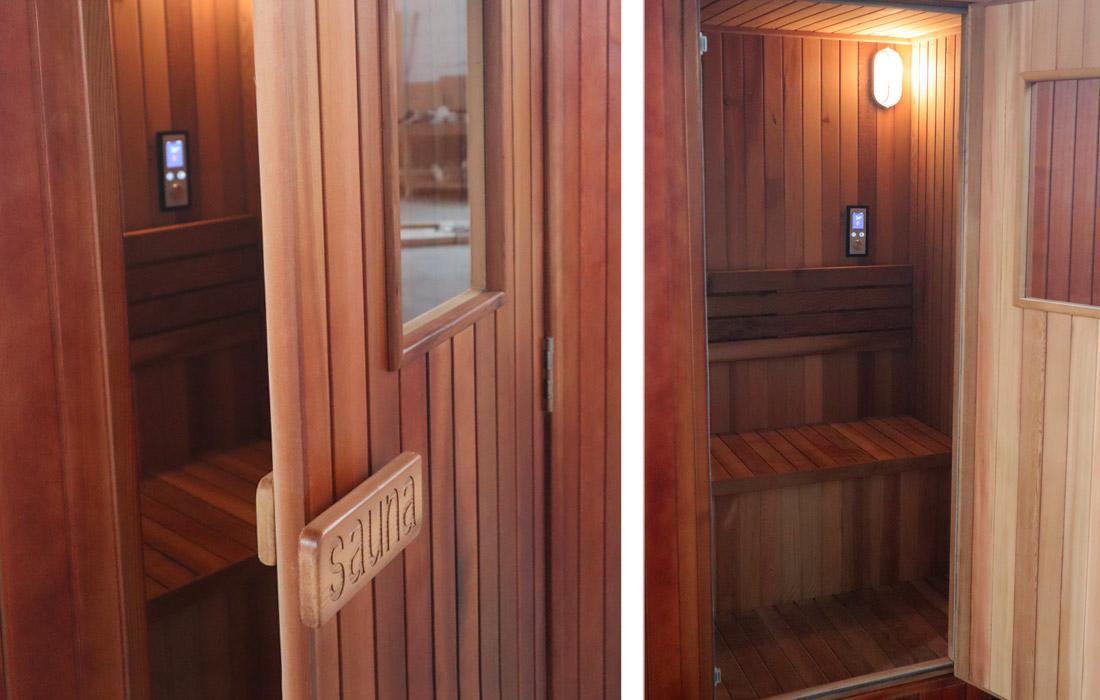 Sauna Finlandese  Dimhora da esterno modello Merano dettaglio 2
