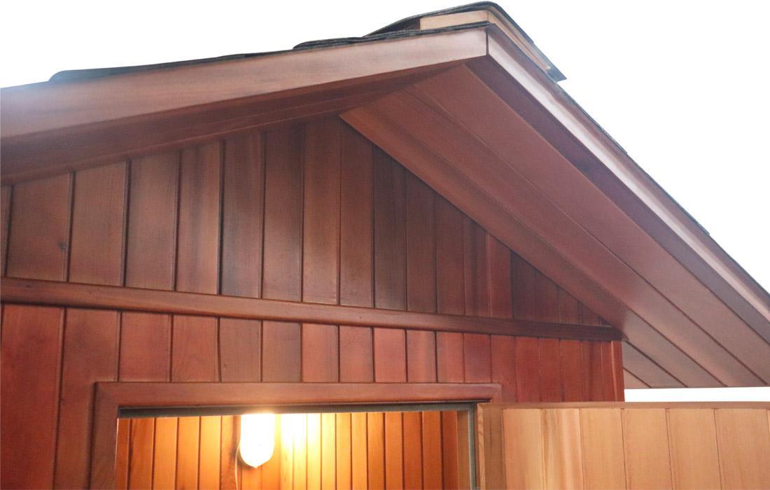 Sauna Finlandese  Dimhora da esterno modello Merano dettaglio 4
