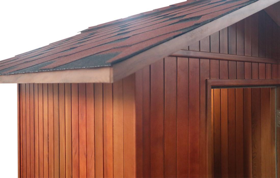 Sauna Finlandese  Dimhora da esterno modello Merano dettaglio 5