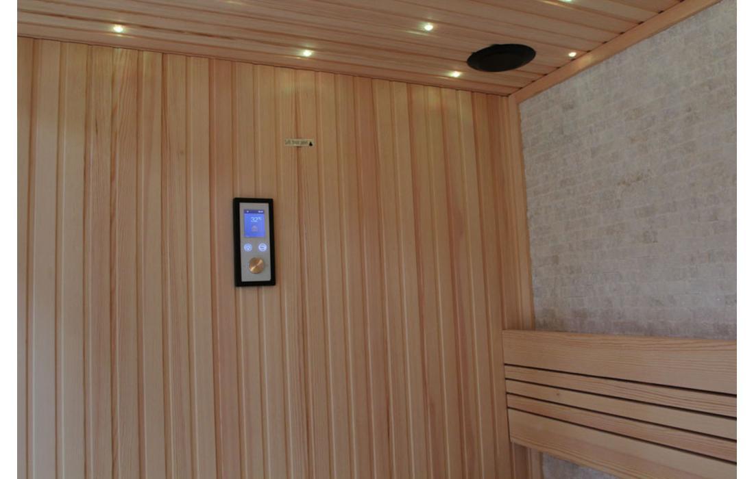 sauna finlandese lugano interno