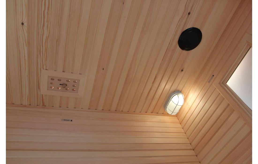 sauna finlandese cervinia interno tetto
