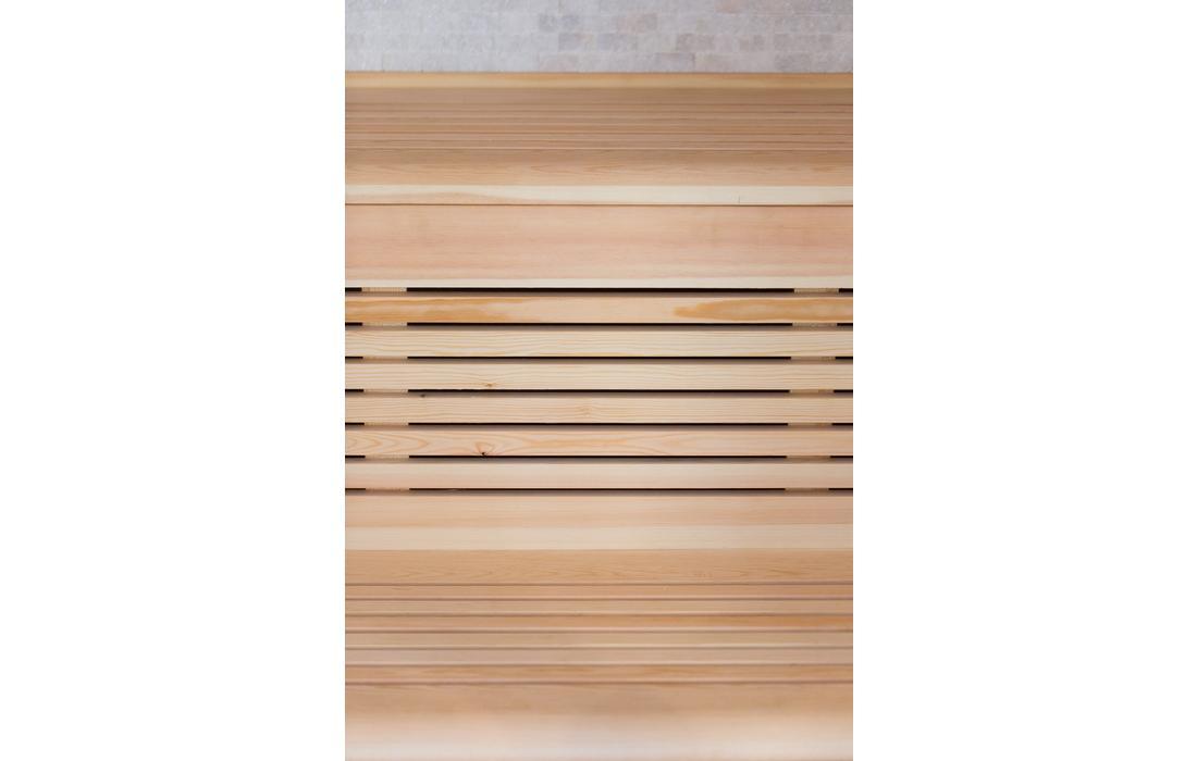 sauna finlandese firenze dettaglio panca